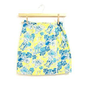 Lilly Pulitzer Floral Hybiscus Monkey Mini Skirt